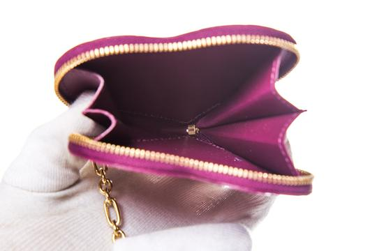 Louis Vuitton LOUIS VUITTON Purple Vernis Heart Coin Purse Image 6