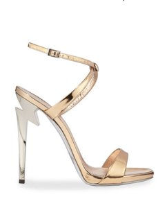Giuseppe Zanotti Designer New Classic Signature Party Rose Gold Sandals