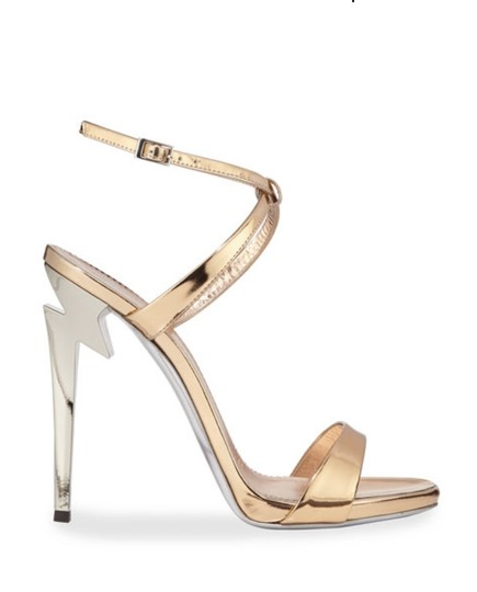 Giuseppe Zanotti Designer New Classic Signature Party Rose Gold Sandals Image 0