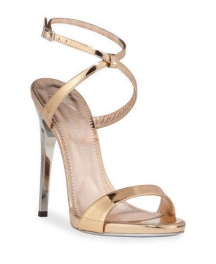 Giuseppe Zanotti Designer New Classic Signature Party Rose Gold Sandals Image 1