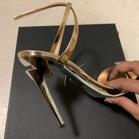 Giuseppe Zanotti Designer New Classic Signature Party Rose Gold Sandals Image 4