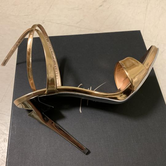 Giuseppe Zanotti Designer New Classic Signature Party Rose Gold Sandals Image 5
