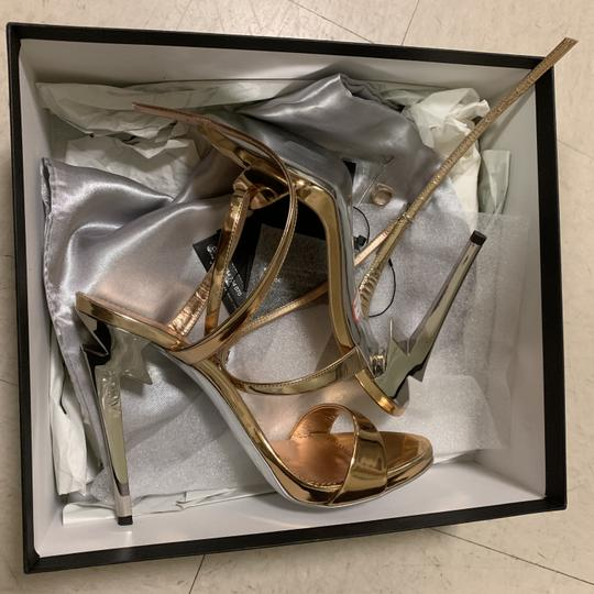 Giuseppe Zanotti Designer New Classic Signature Party Rose Gold Sandals Image 6