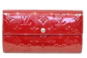 Louis Vuitton Portefeuille Sarah Vernis Leather Purse Coin Credit card Long Wallet