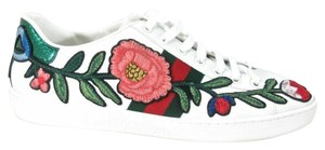 Gucci Embroidered Luxury Platform Snakeskin Leather Multicolor Flats