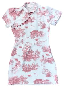 Stone Cold Fox short dress white and pink on Tradesy