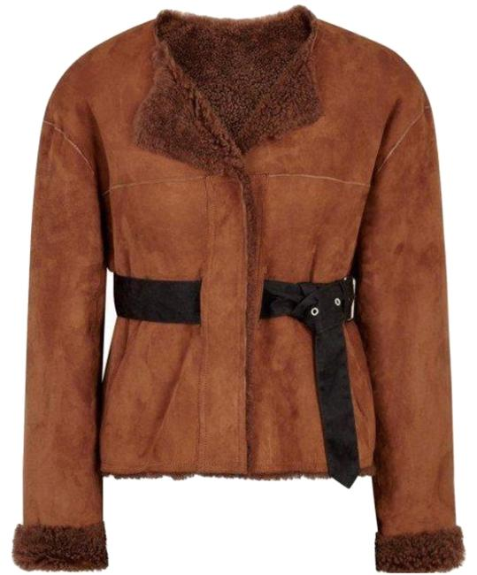 Preload https://img-static.tradesy.com/item/25912347/isabel-marant-orange-alison-suede-and-shearling-belted-coat-toscana-jacket-size-4-s-0-1-650-650.jpg