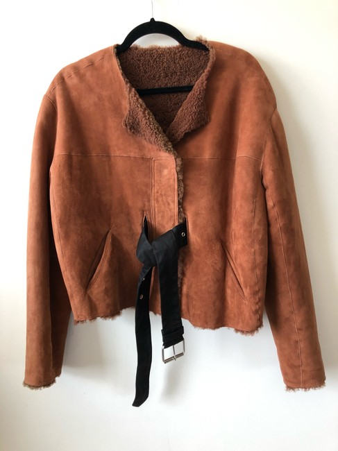 Isabel Marant Rag Bone Iro Helmut Lang Alexander Wang Burberry Orange Leather Jacket Image 7