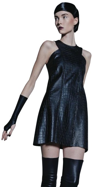 Preload https://img-static.tradesy.com/item/25912697/alexis-black-ukraine-leather-embossed-croc-short-night-out-dress-size-8-m-0-2-650-650.jpg