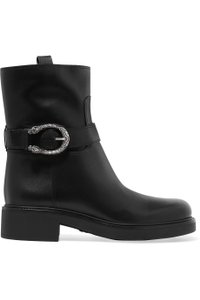 Gucci Dionysus Urban Chelsea Leather Black Boots
