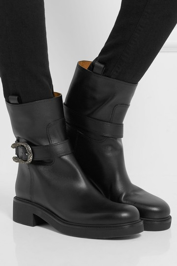 Gucci Dionysus Urban Chelsea Leather Black Boots Image 1