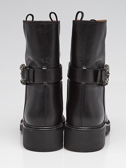 Gucci Dionysus Urban Chelsea Leather Black Boots Image 2