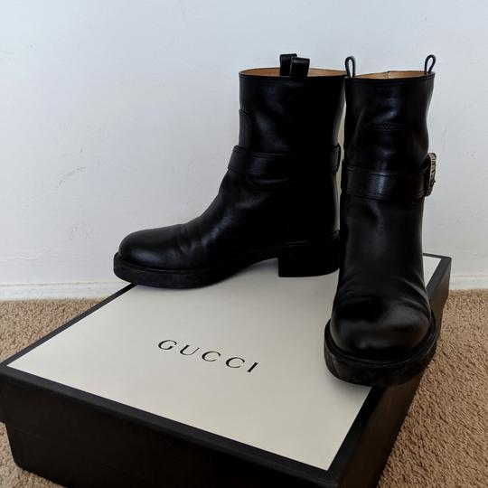 Gucci Dionysus Urban Chelsea Leather Black Boots Image 3