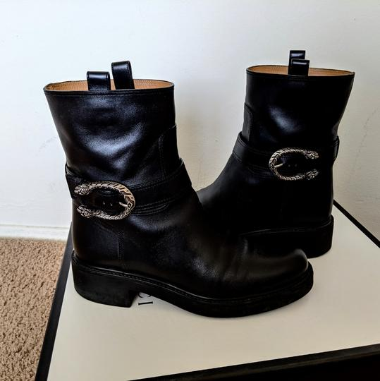 Gucci Dionysus Urban Chelsea Leather Black Boots Image 4