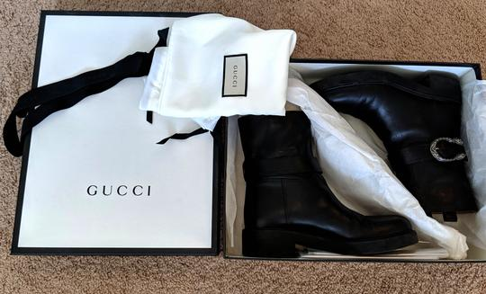 Gucci Dionysus Urban Chelsea Leather Black Boots Image 8