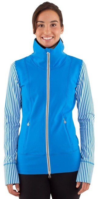 Item - Blue White Daily Yoga Activewear Outerwear Size 4 (S)