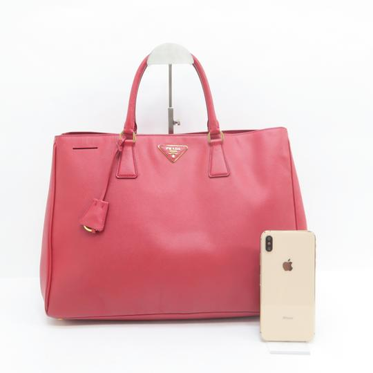 Prada Lux Large Saffiano Tote in RED Image 1