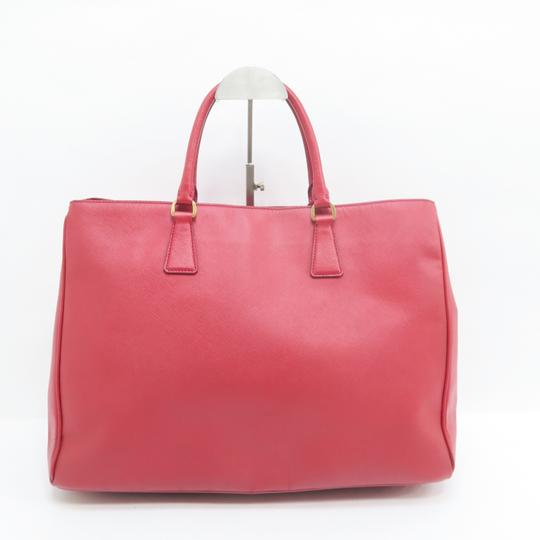 Prada Lux Large Saffiano Tote in RED Image 3