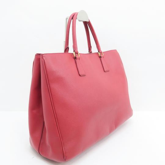 Prada Lux Large Saffiano Tote in RED Image 4