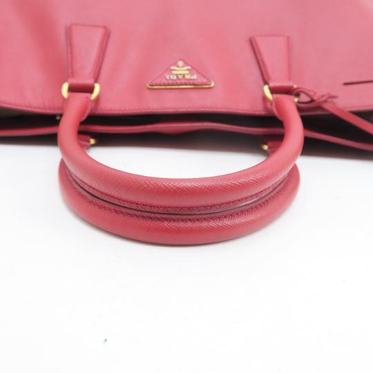 Prada Lux Large Saffiano Tote in RED Image 6