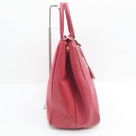 Prada Lux Large Saffiano Tote in RED Image 7