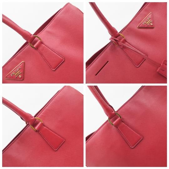 Prada Lux Large Saffiano Tote in RED Image 8