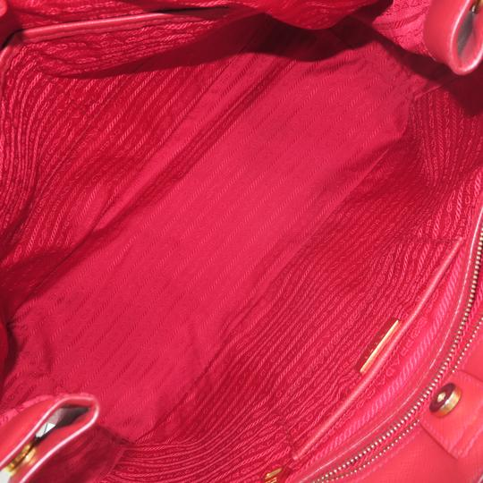 Prada Lux Large Saffiano Tote in RED Image 9