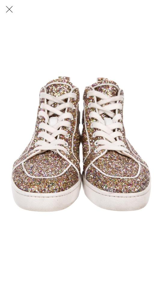 uk availability 85f0c ff225 Gold Glitter Mens Sneakers
