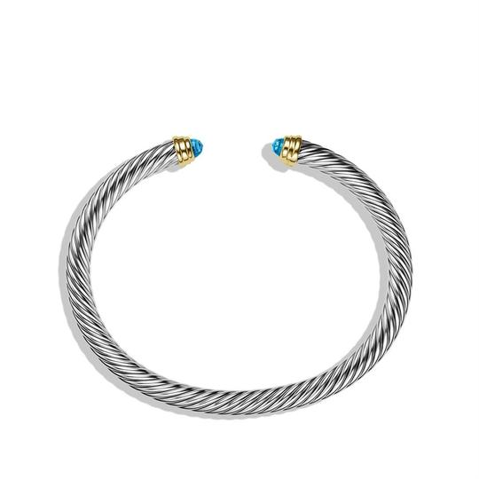 David Yurman Sterling silver 14K yellow gold David Yurman Cable Classic topaz cuff Image 1
