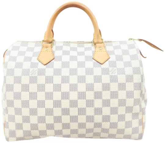 Louis Vuitton Lv Speedy 30 Canvas Tote in White Image 0