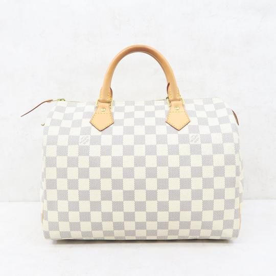 Louis Vuitton Lv Speedy 30 Canvas Tote in White Image 1