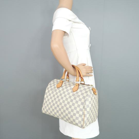 Louis Vuitton Lv Speedy 30 Canvas Tote in White Image 10