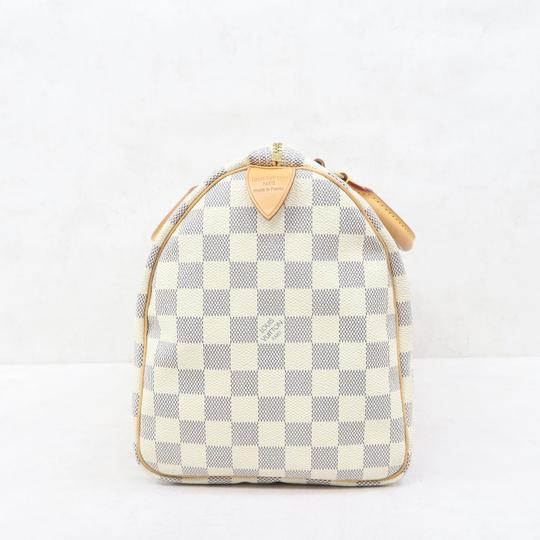 Louis Vuitton Lv Speedy 30 Canvas Tote in White Image 3
