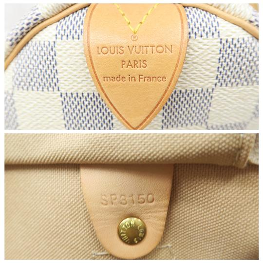Louis Vuitton Lv Speedy 30 Canvas Tote in White Image 9