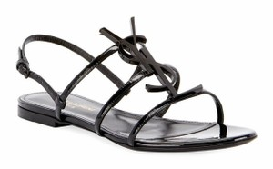 Saint Laurent Logo Classic Flat Leather black Sandals