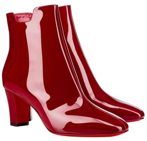 Christian Louboutin Patent Leather Vernis So Kate Pigalle Tiagada Red Boots