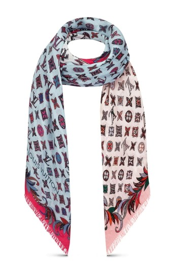 Louis Vuitton Louis VUITTON 100% WOOL SHAWL,SCARVE LIMITED EDITION, 2019 WINTER New Image 2