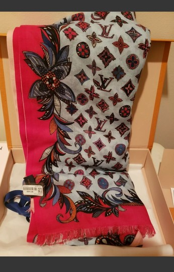 Louis Vuitton Louis VUITTON 100% WOOL SHAWL,SCARVE LIMITED EDITION, 2019 WINTER New Image 9