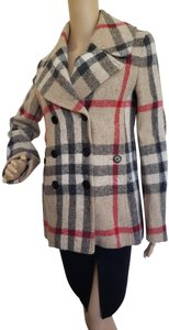Burberry Nova Check House Check Plaid Silver Hardware Vintage Trench Coat