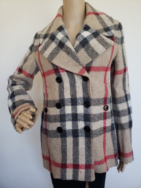 Burberry Nova Check House Check Plaid Silver Hardware Vintage Trench Coat Image 2