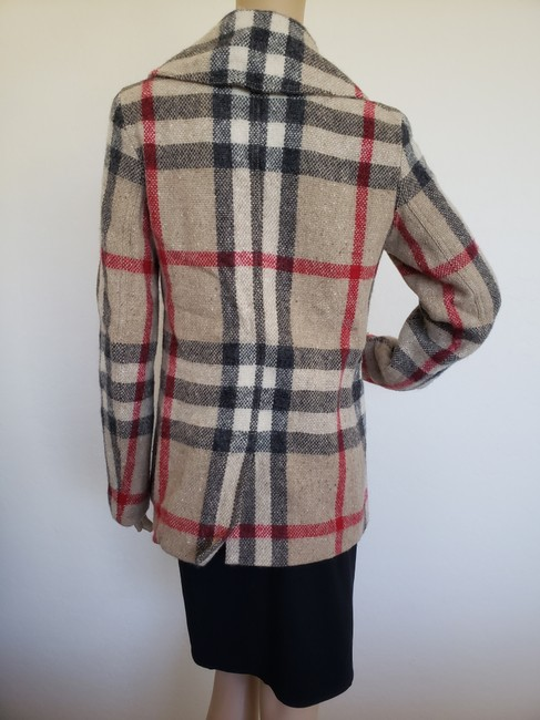 Burberry Nova Check House Check Plaid Silver Hardware Vintage Trench Coat Image 3