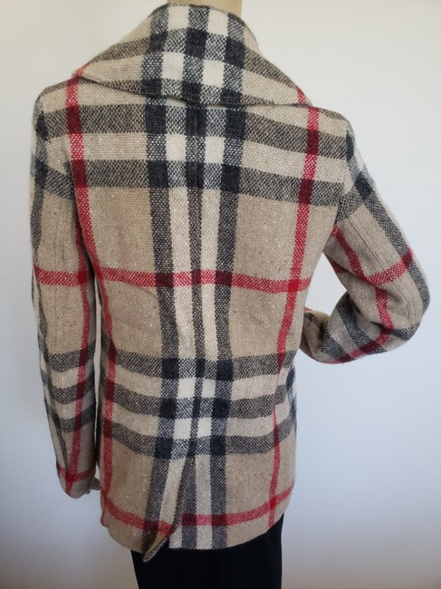 Burberry Nova Check House Check Plaid Silver Hardware Vintage Trench Coat Image 5