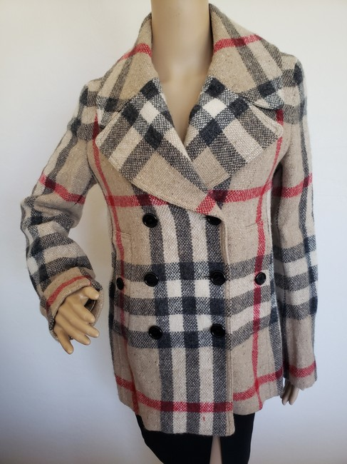 Burberry Nova Check House Check Plaid Silver Hardware Vintage Trench Coat Image 7