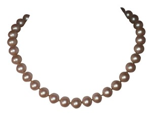 Givenchy Givenchy Simulated Pearl Necklace with GG Monogram Clasp