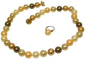Pearlfection Pearlfectiōn Faux Pearl Multi Necklace and RIng Set