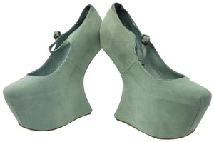 Jeffrey Campbell Suede Leather Mint Platforms