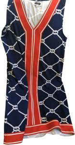 Red and navy Maxi Dress by Mudpie