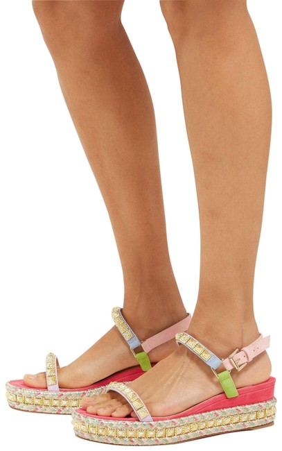 Item - Wedge 1819 Nwd Pyradiams 60 Suede Multicolor Sandals Size EU 38 (Approx. US 8) Regular (M, B)