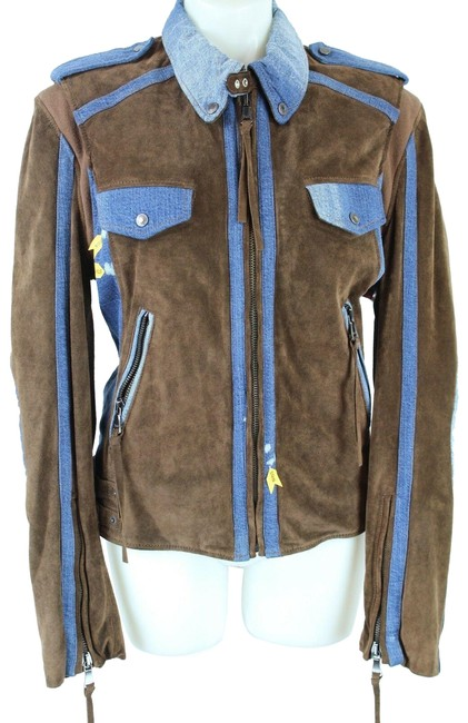 Item - Brown and Blue Dolce & Gabbana & Suede Medium Jacket Size 8 (M)