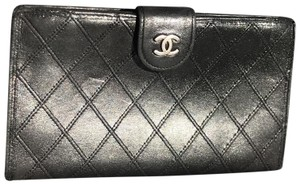 Chanel Chanel black lattice wallet